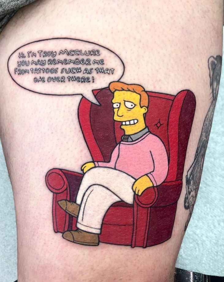 Awesome Troy McClure Tattoo