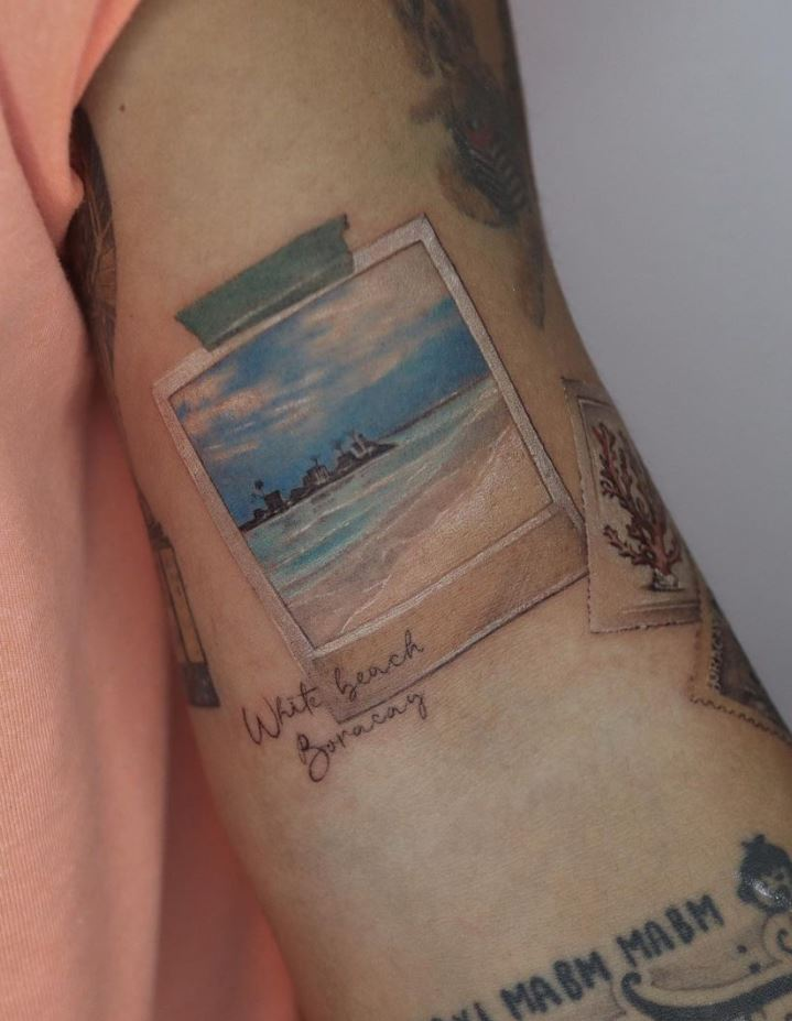 Beach Frame Tattoo
