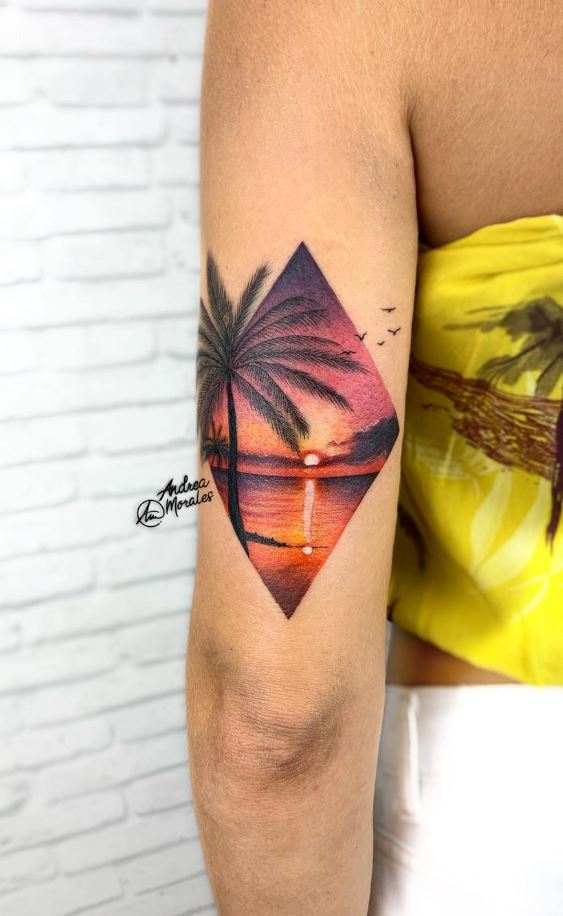 Beautiful Sundown Tattoo