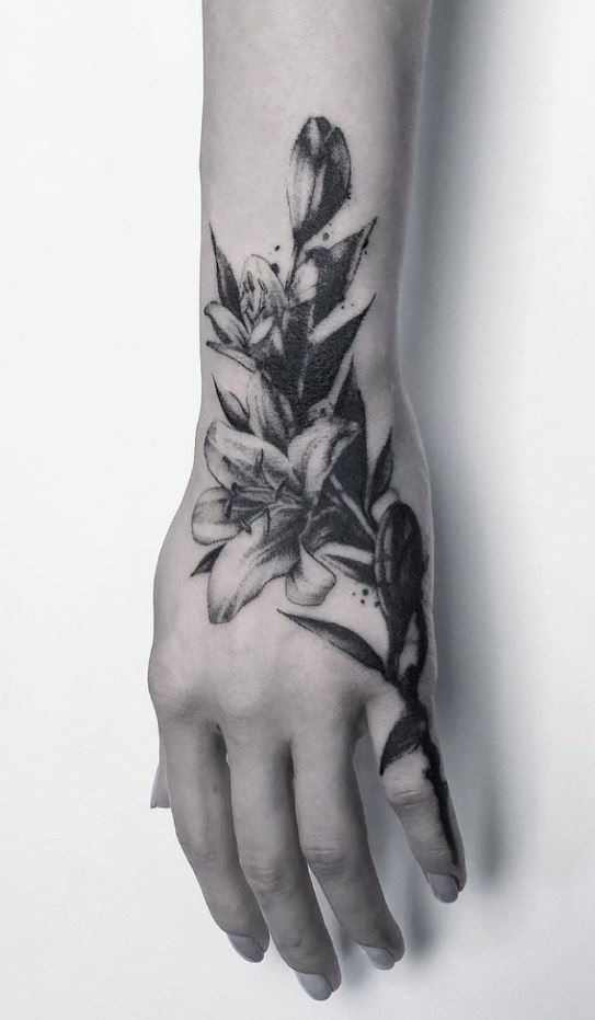 Black Flowers Tattoo