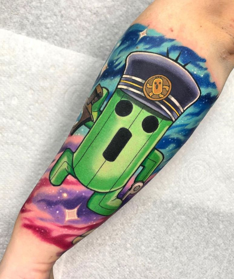 Cactuar Conductor Tattoo