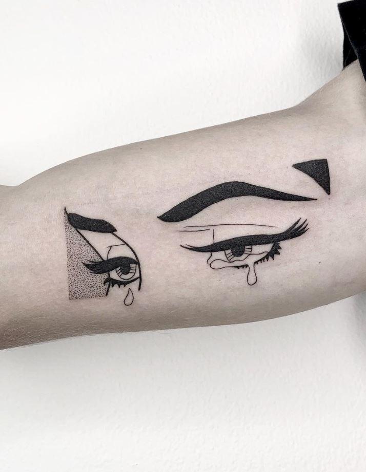 Crying Eyes Tattoo