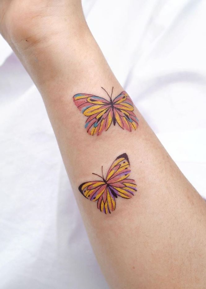 Cute Butterflies Tattoo