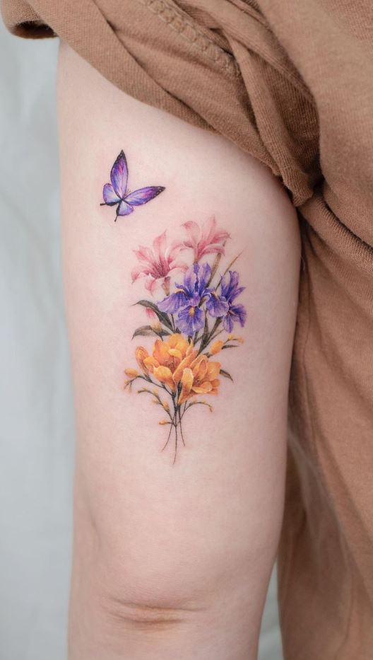 Flower Bouquet Tattoo