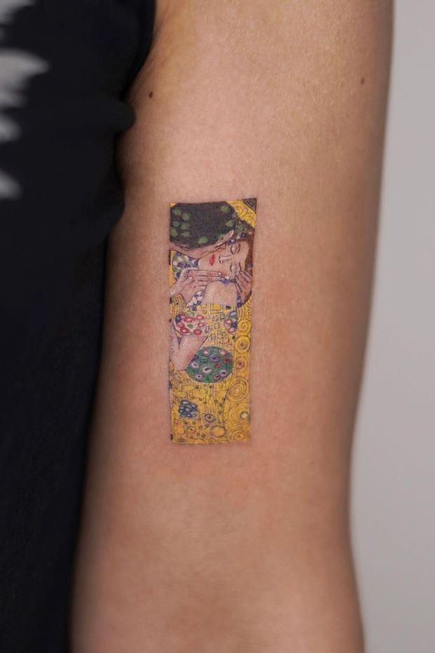 Gustav Klimt The Kiss Tattoo