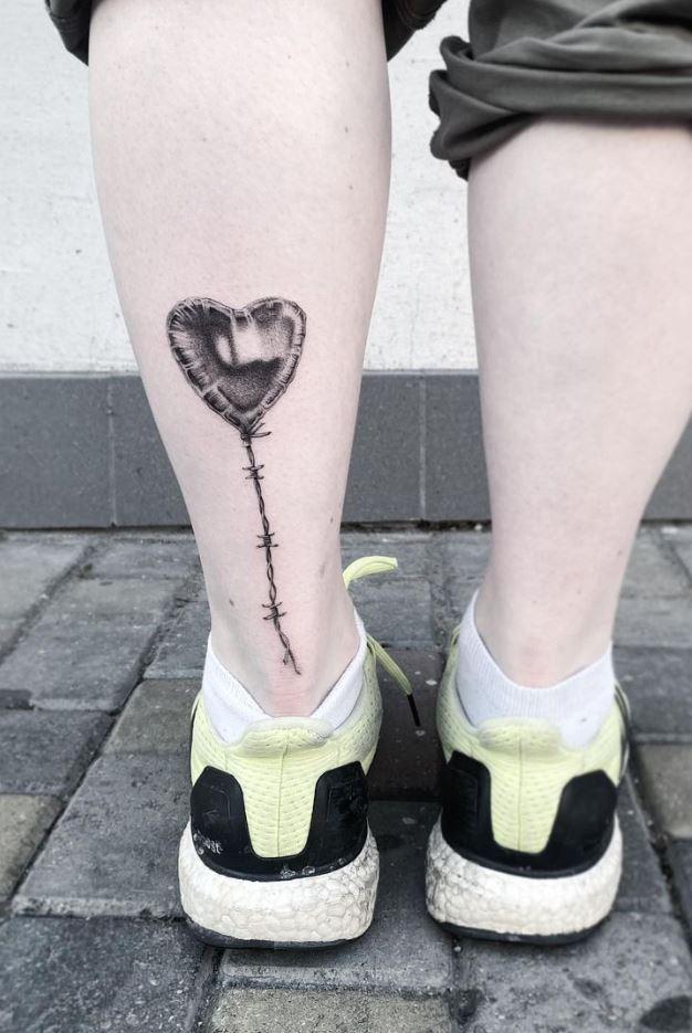 Heart Balloon Tattoo