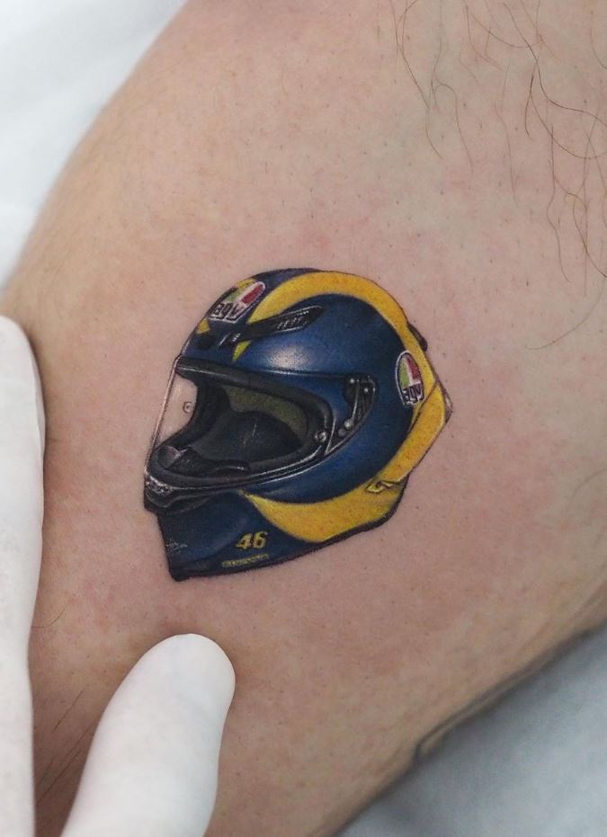 Helmet Tattoo