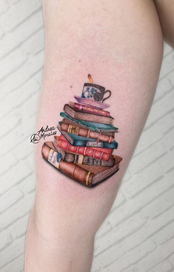 Marvelous Book Tattoo