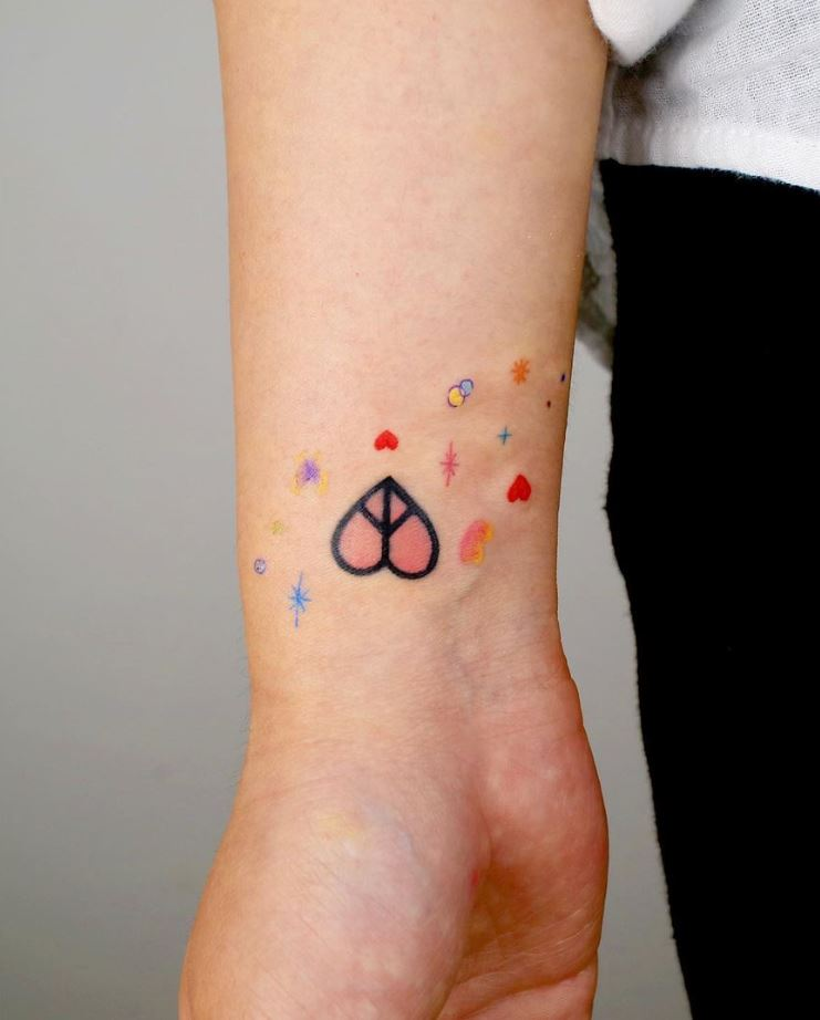 Peace Heart Tattoo