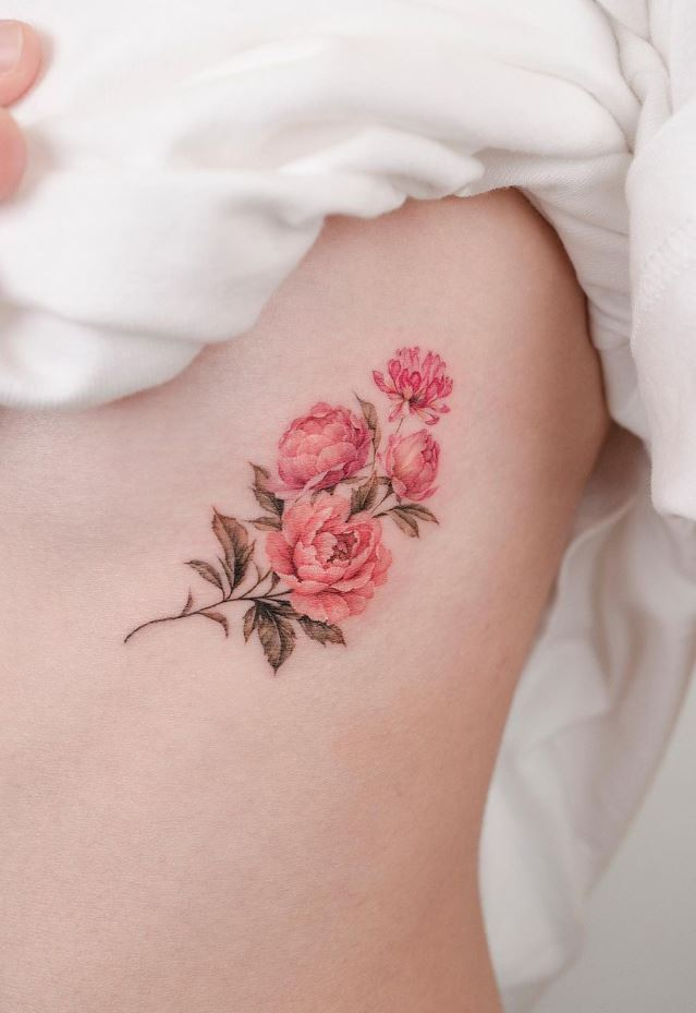 Pink Flowers Tattoo
