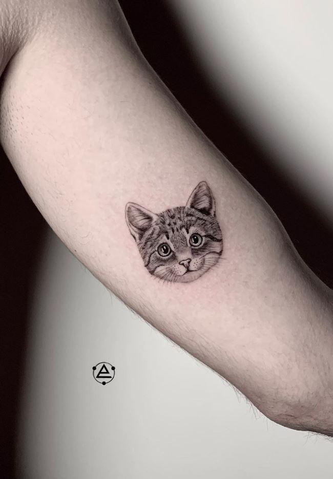 Small Cat Tattoo