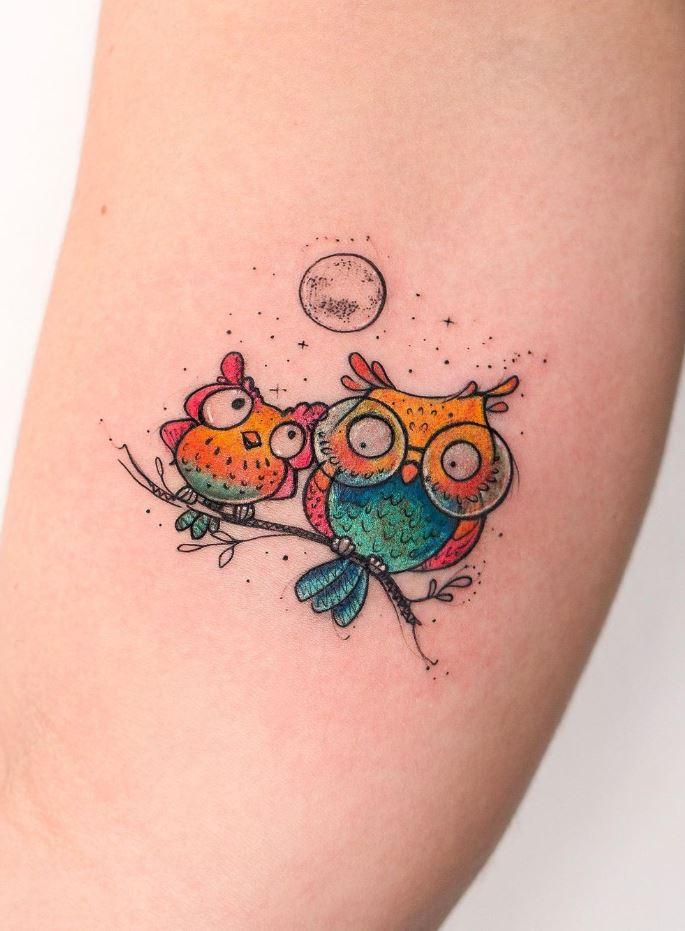 Small Owls Tattoo