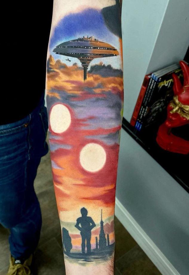 Star Wars Cloud City Tattoo