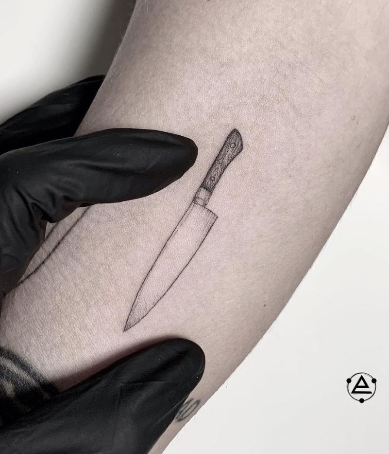 Tiny Knife Tattoo