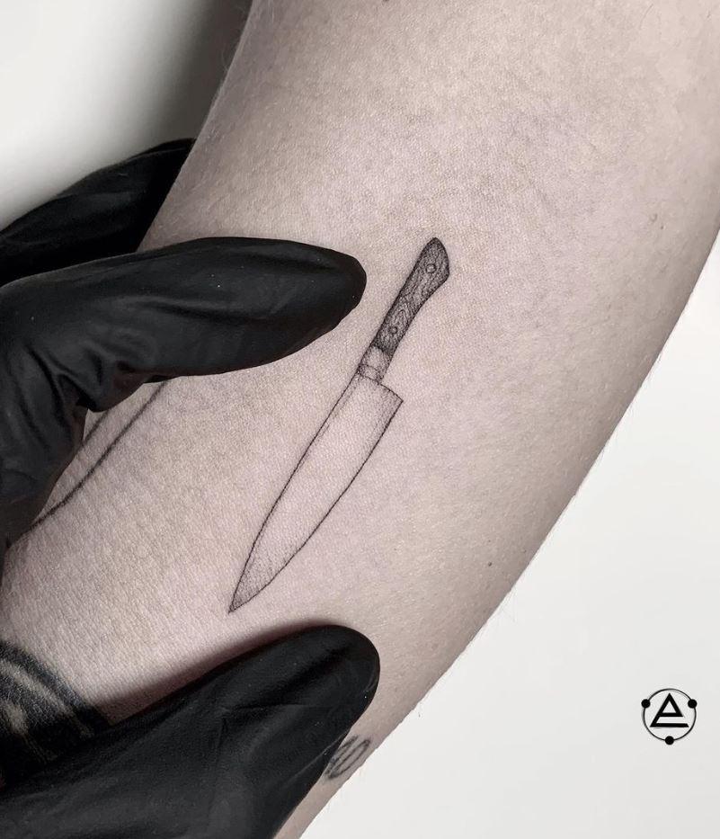 Tiny Knife Tattoo