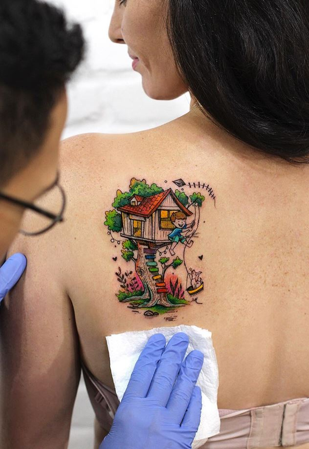 Tree House Tattoo