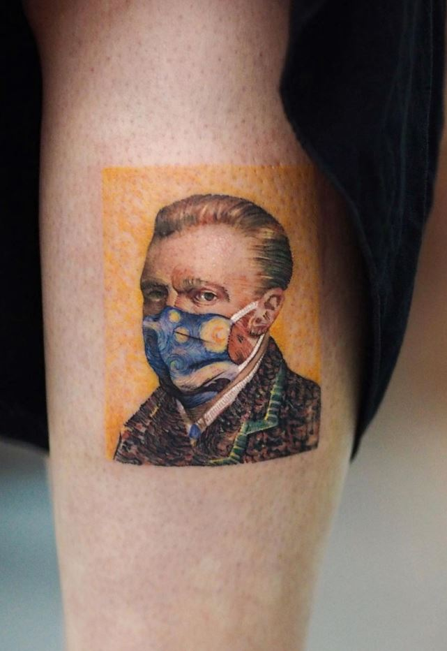 Van Gogh Corona Tattoo