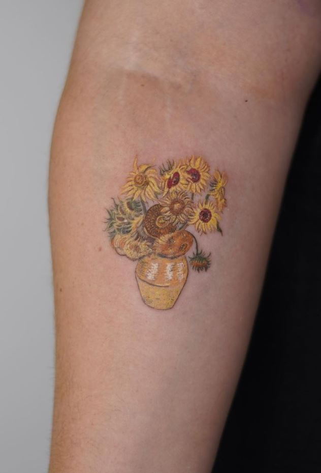 Van Gogh Sunflowers Tattoo