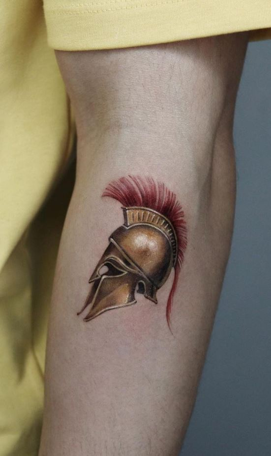 Warrior Helmet Tattoo