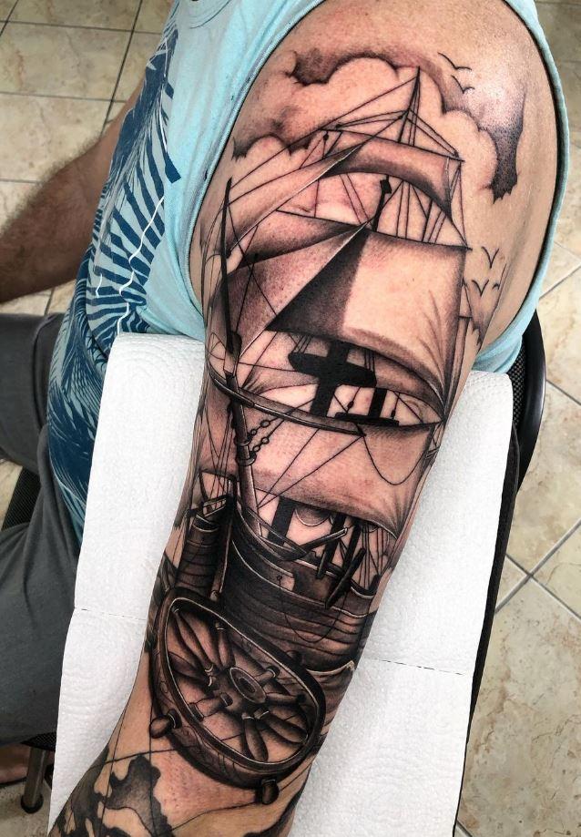 Awesome Nautical Tattoo