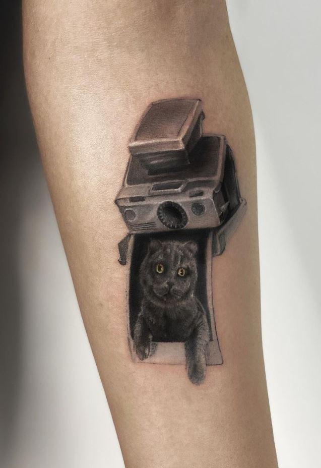 Cat Photo Tattoo