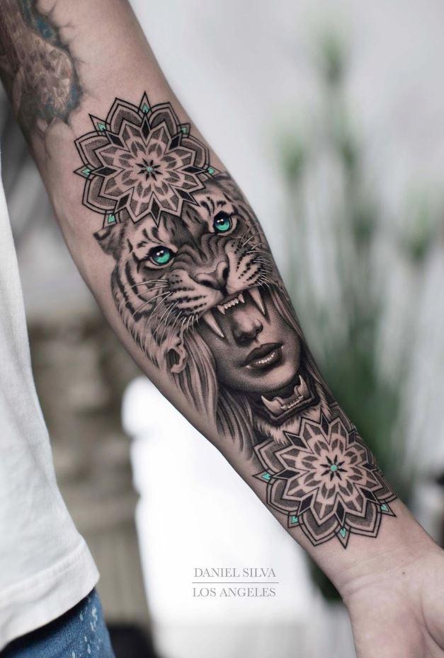 Lion Girl Tattoo