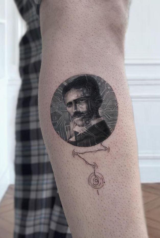 Nikola Tesla Tattoo