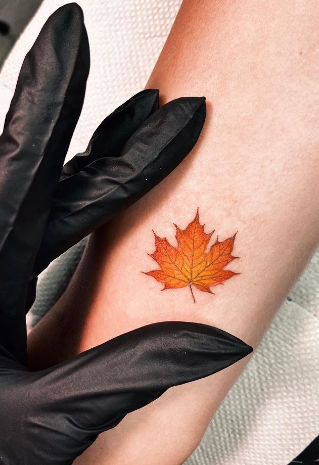 Small Leaf Tattoo