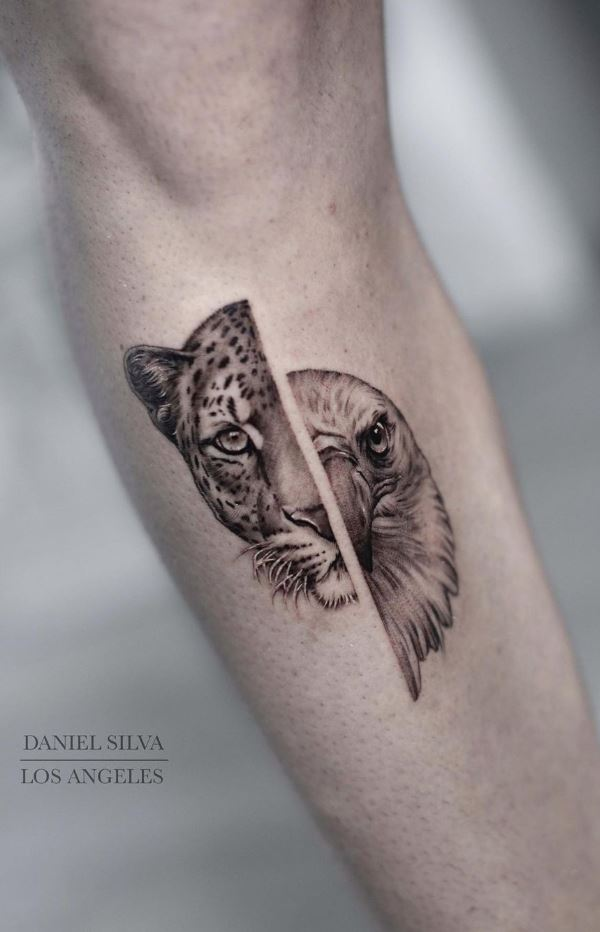 Tiger & Eagle Tattoo