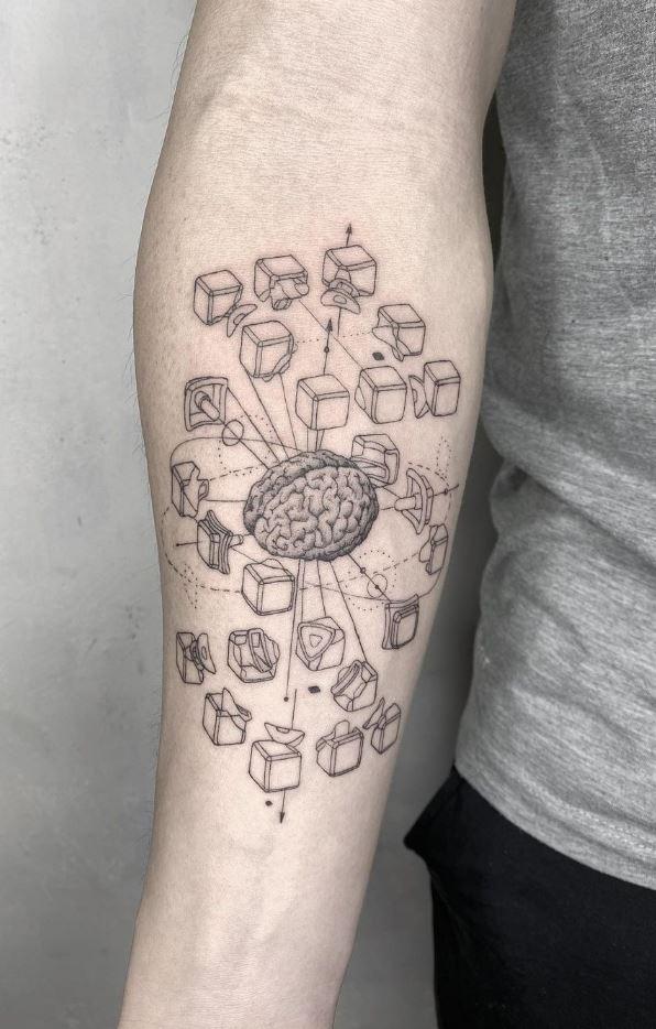 Amazing Brain Tattoo