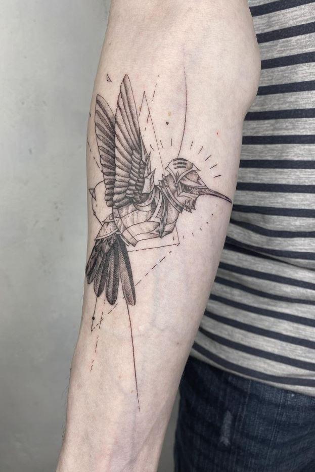 Armored Hummingbird Tattoo