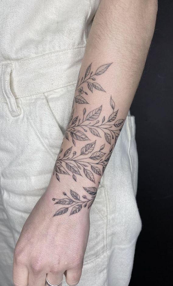 Black Leaves Tattoo