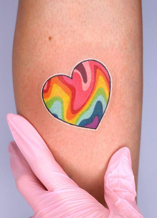 Colorful Heart Tattoo