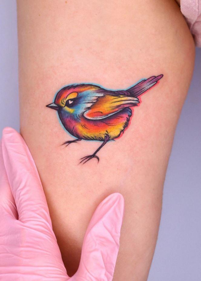 Cute Bird Tattoo