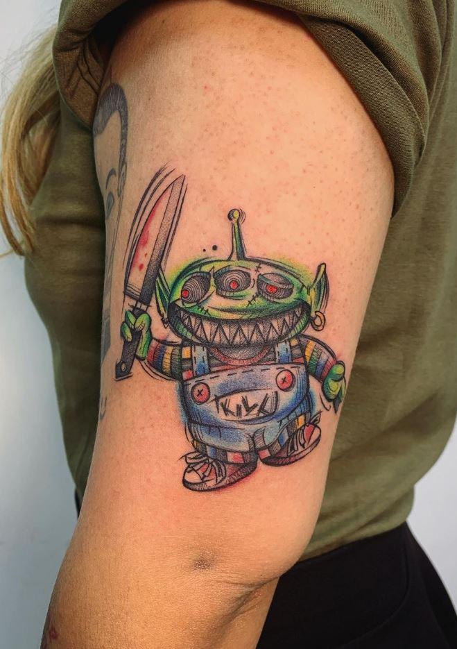 Alien Chucky Tattoo