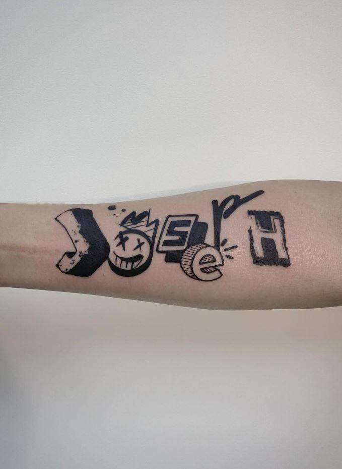 Funny Script Tattoo