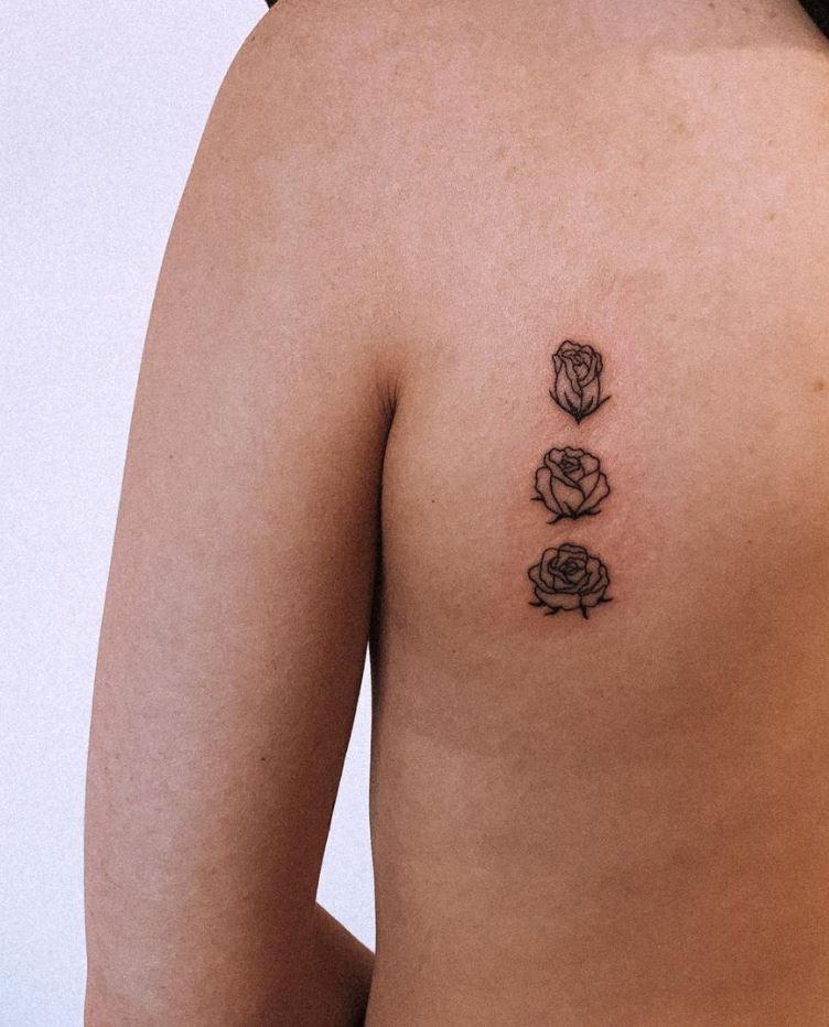 Cute Roses Tattoo