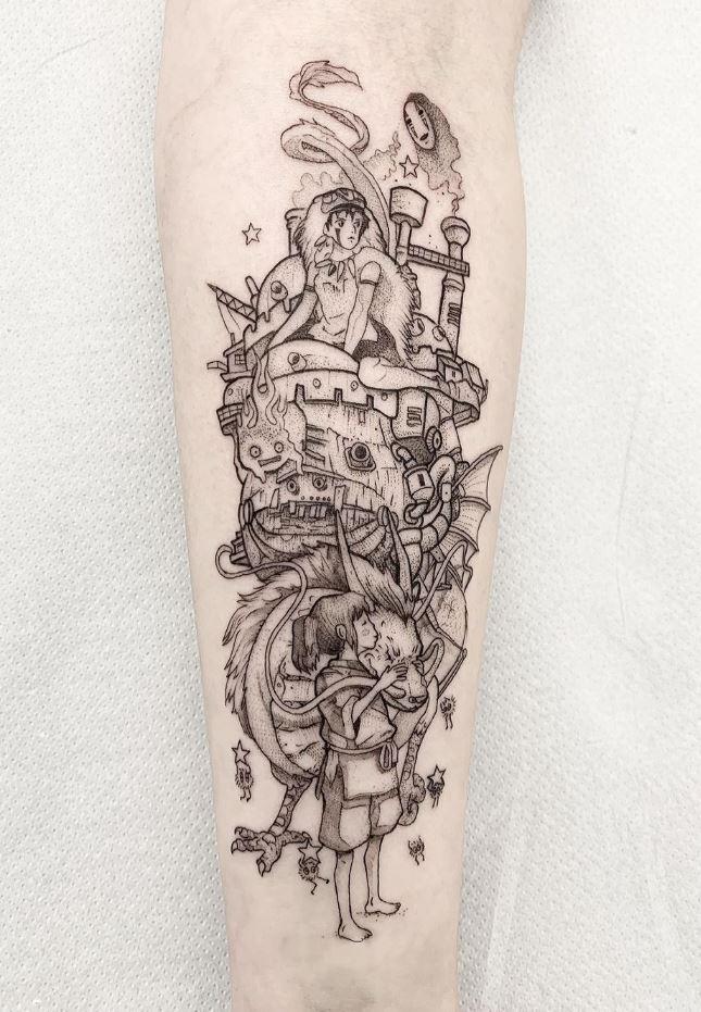 Miyazaki Tribute Tattoo