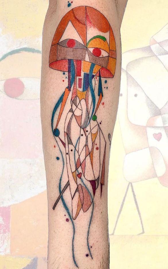 Paul Klee Jellyfish Tattoo